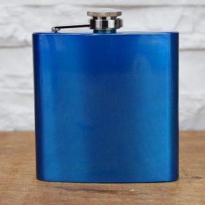 Flachmann Metallic Blau