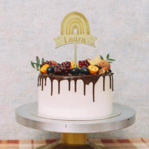 Cake Topper - Regenbogen mit Namen