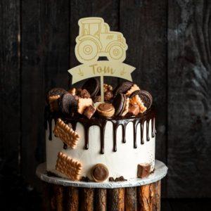 Cake Topper - Traktor mit Namen