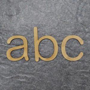 Holz Kleinbuchstaben A.R. Design