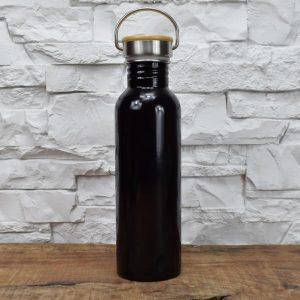 Thermosflasche Groß - schwarz